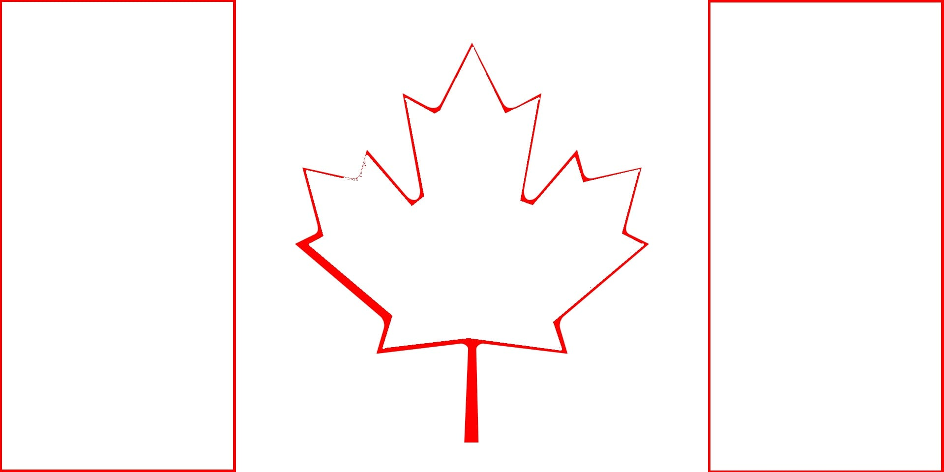 Draw Canada Flag