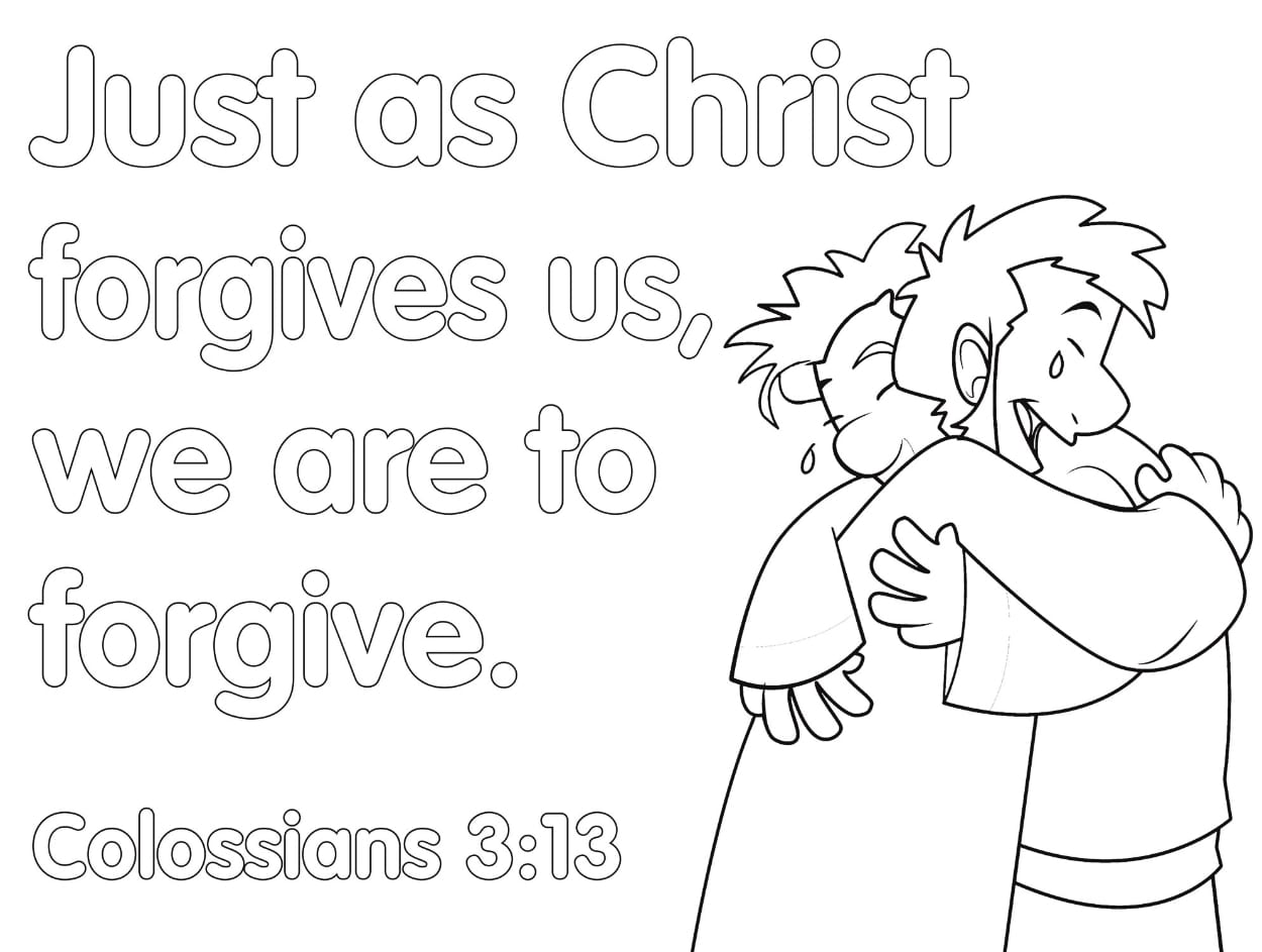 Forgiveness Coloring Pages Bible