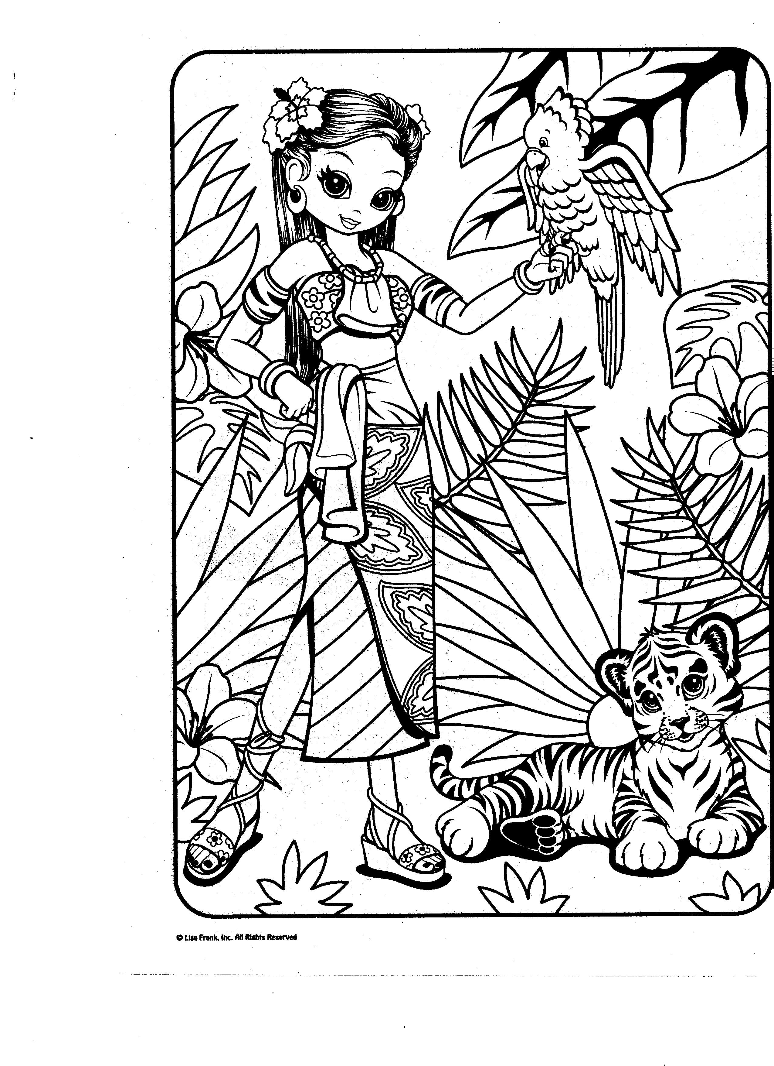 Lisa Frank Coloring Pages To Print