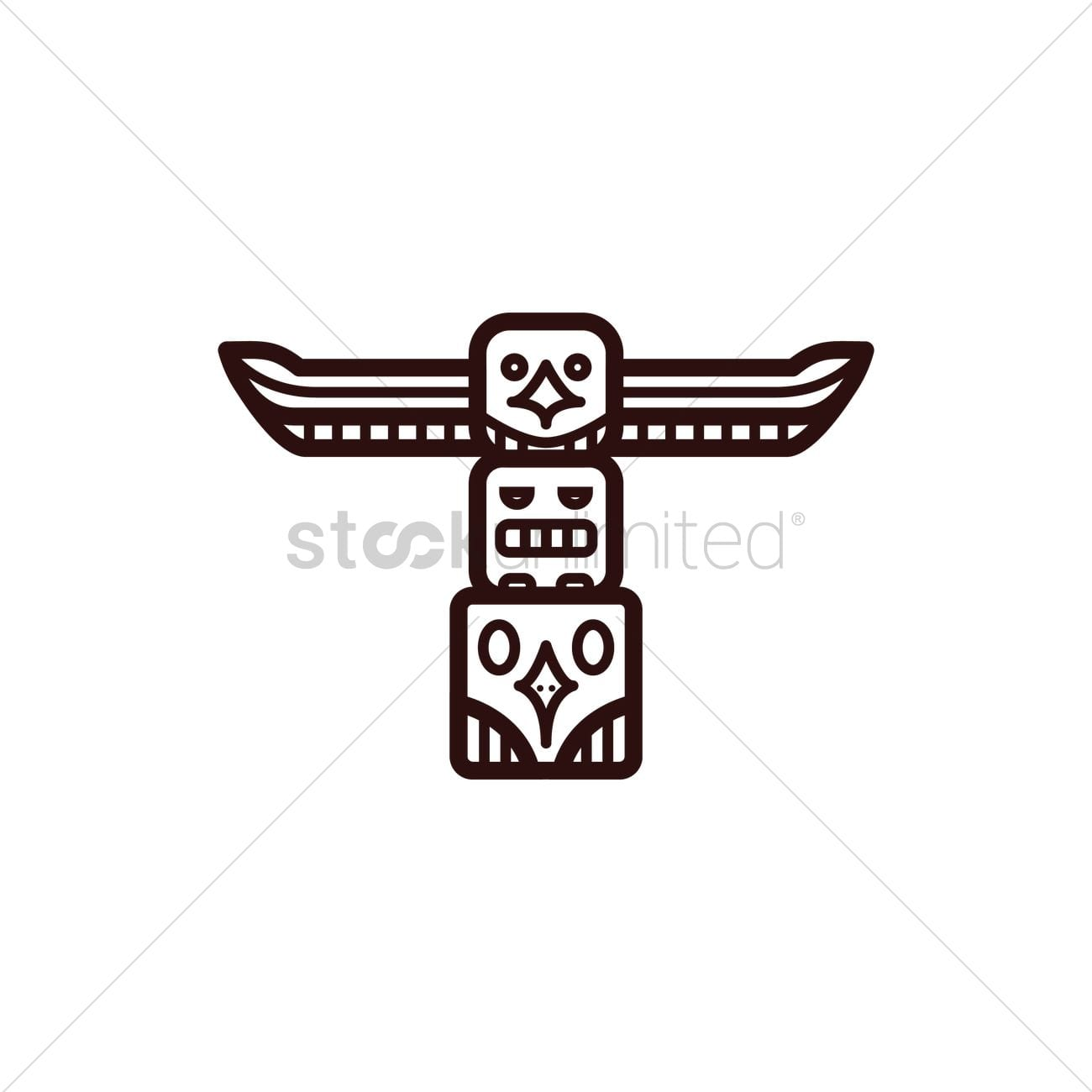 Totem Pole Outline