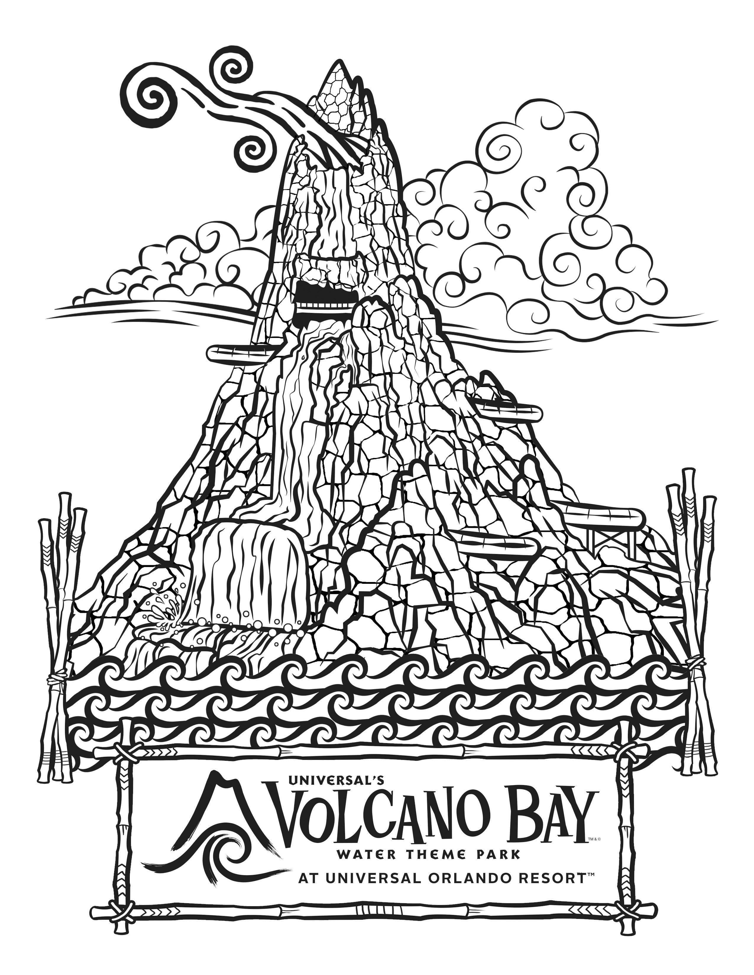 Volcano Coloring Math Worksheet