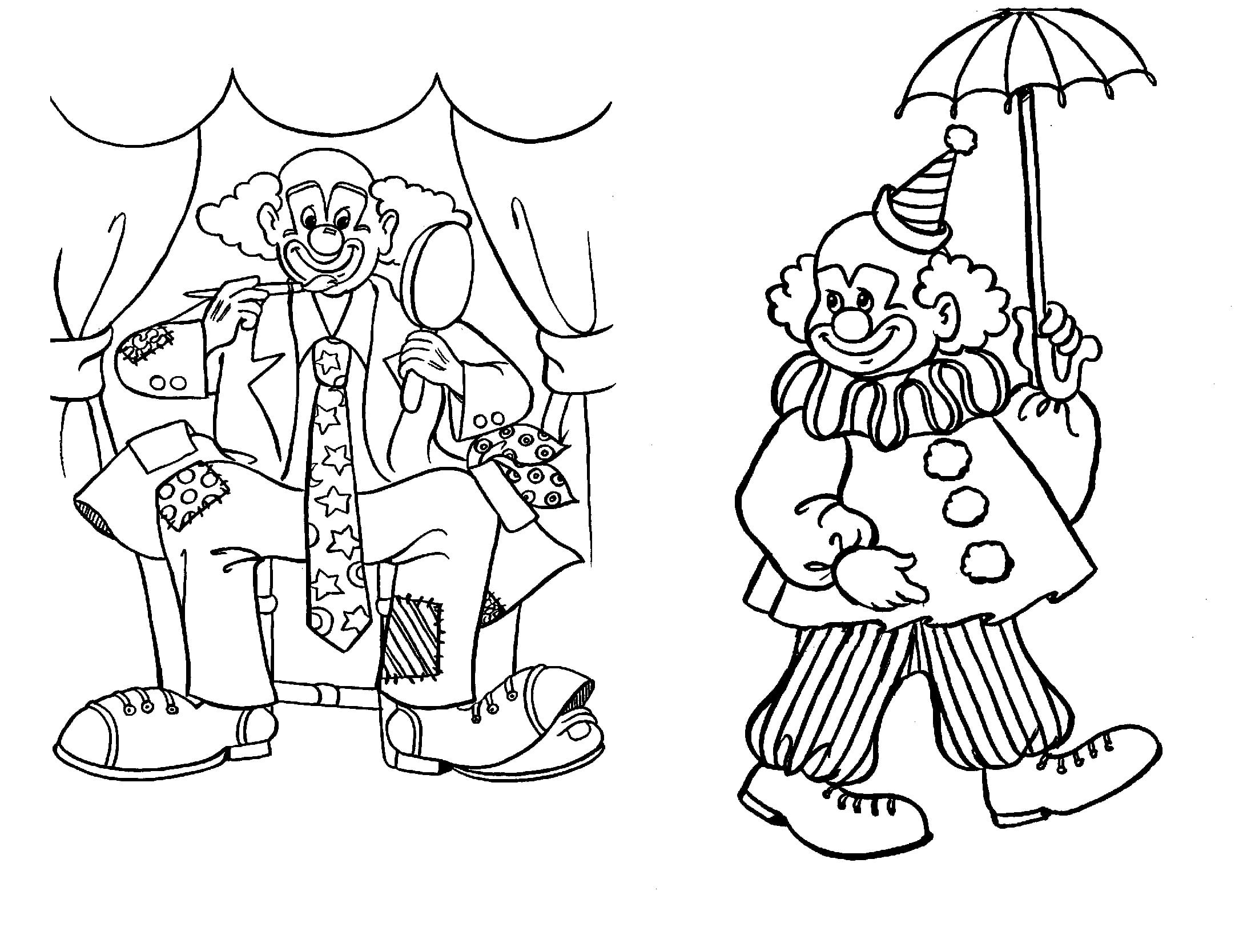 Printable Clown Pictures