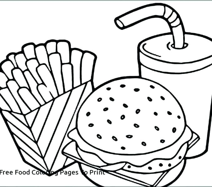 junk food coloring pages