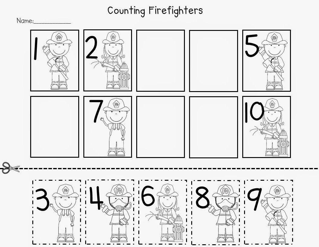 Community Workers Preschool Worksheets