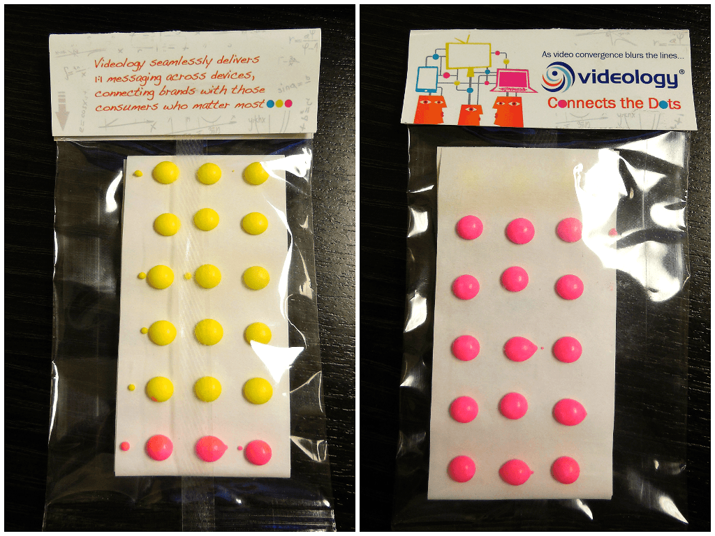 Candy Dots In Custom Header Bags For A Connect The Dot