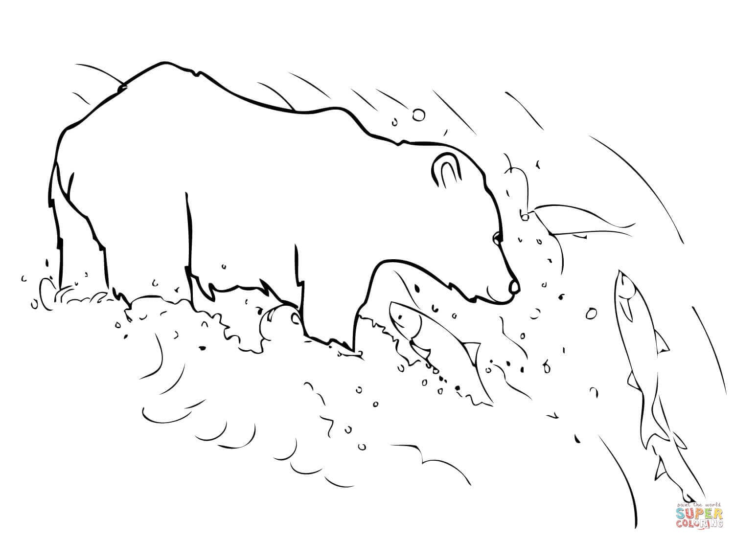 Grizzly Bear Coloring Pictures