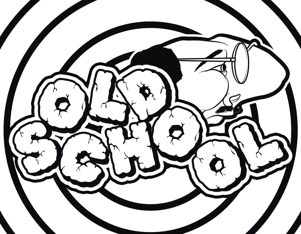 Old School Graffiti Coloring Page Neo Coloring