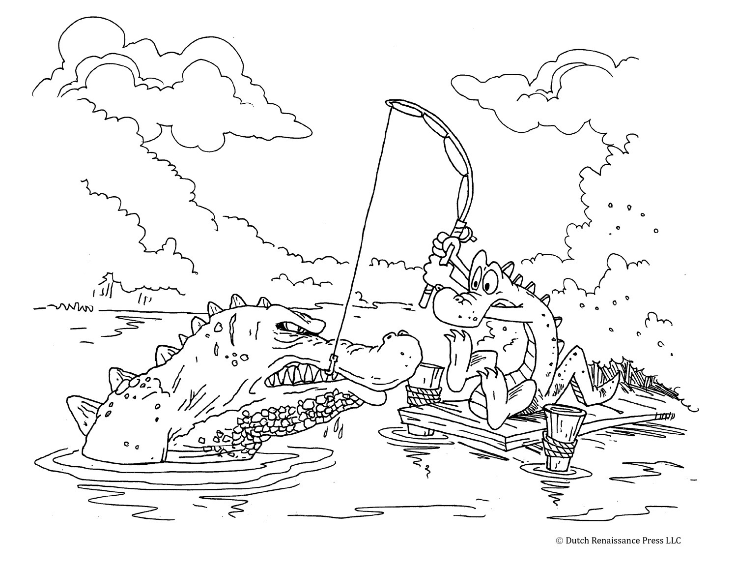 Alligator Coloring Pages For Kids Neo Coloring