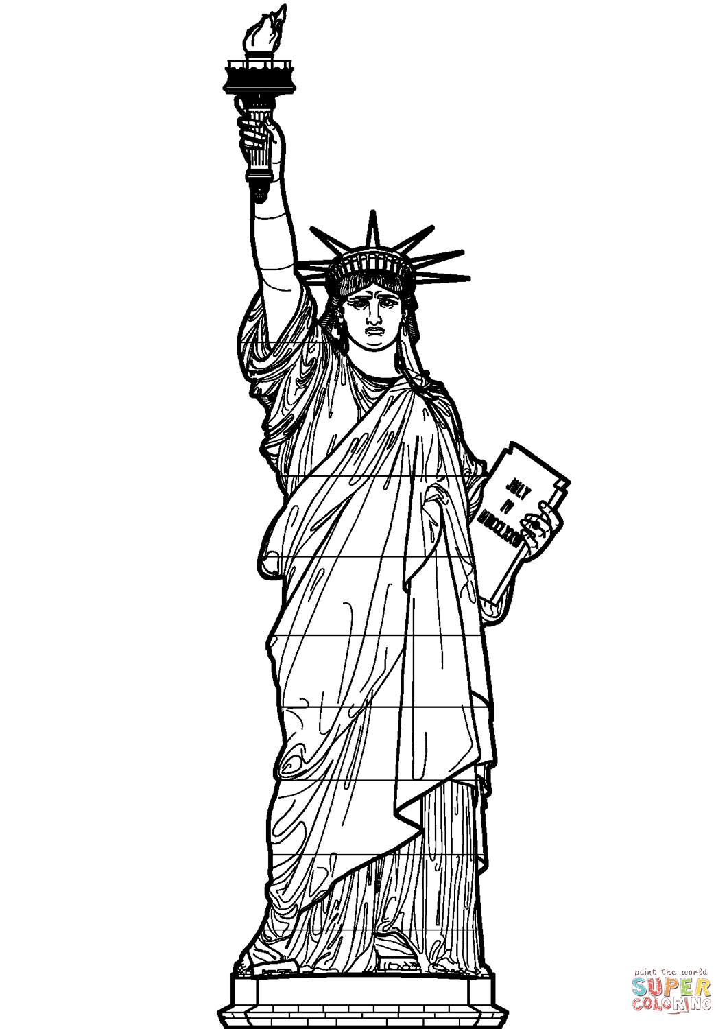 Statue Of Liberty Coloring Page Neo Coloring