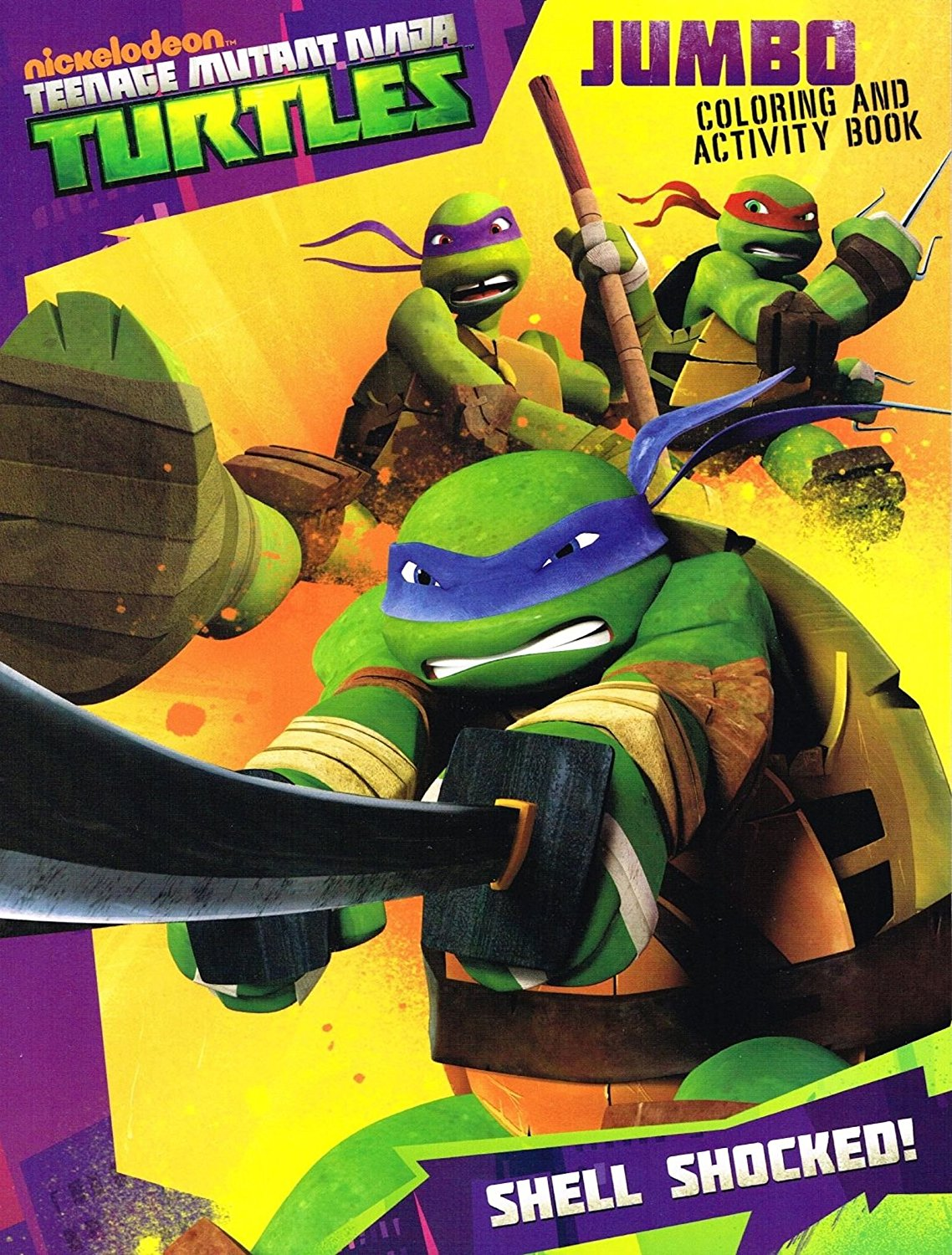 Buy Tmnt Ninja Turtle 96 Pages Coloring And Activity Book