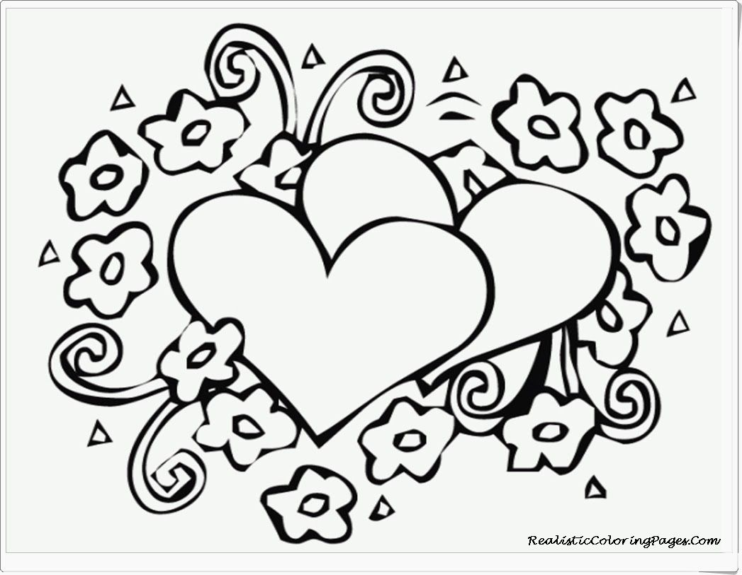 Valentines Hearts Free Printable Coloring Pages Zentangle