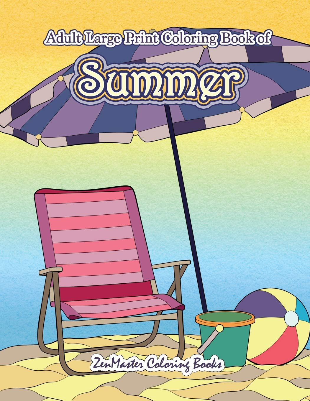 Amazon Com Large Print Coloring Book For Adults Of Summer