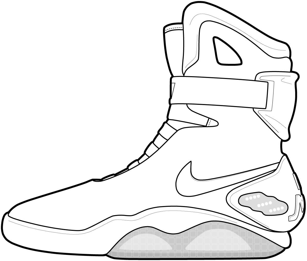 Jordan Shoes Coloring Pages Neo Coloring