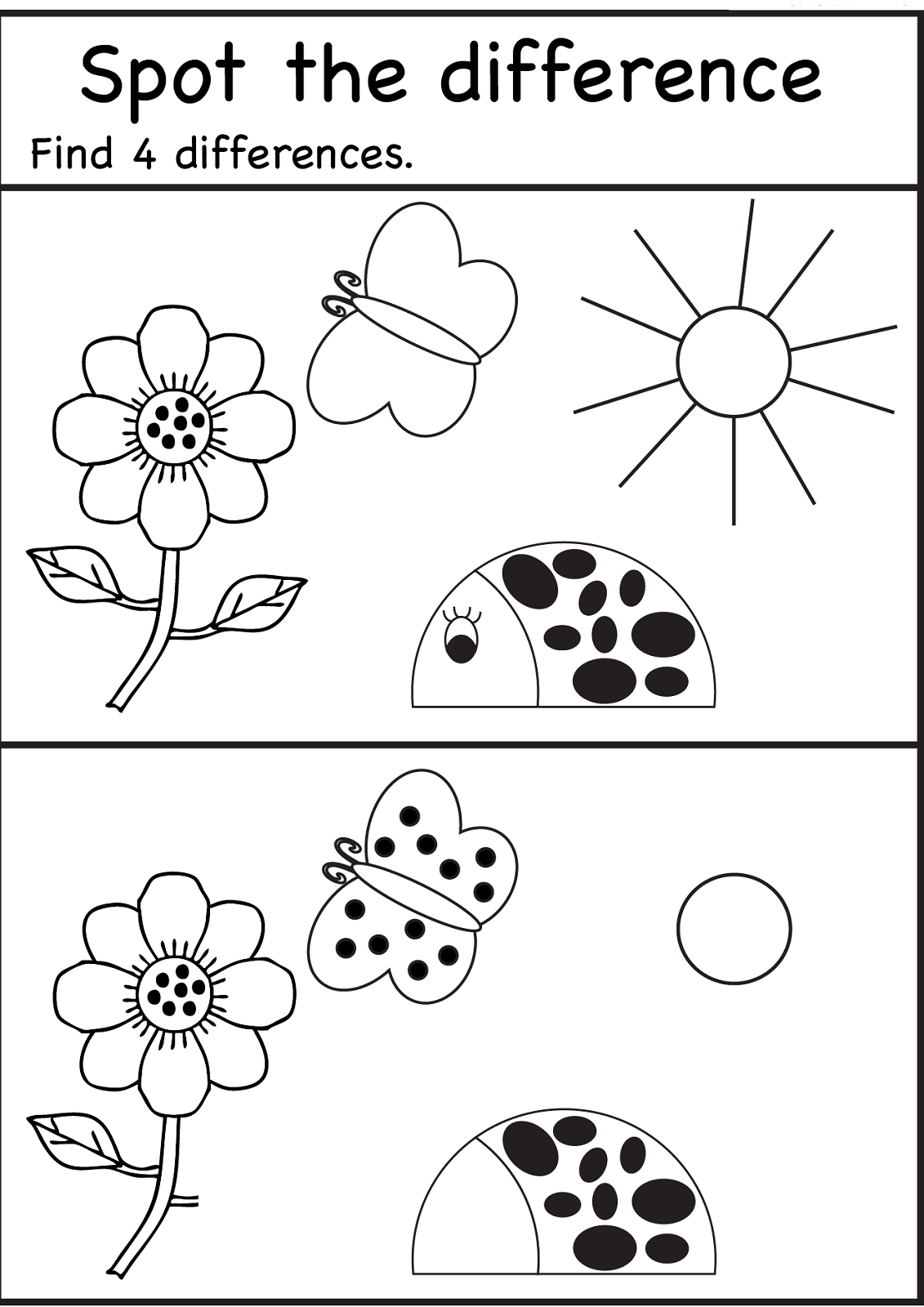 Spot The Difference Worksheets For Kids Neo Coloring