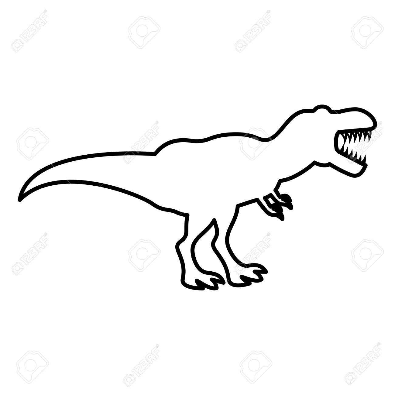 Outline Pictures Of Dinosaurs