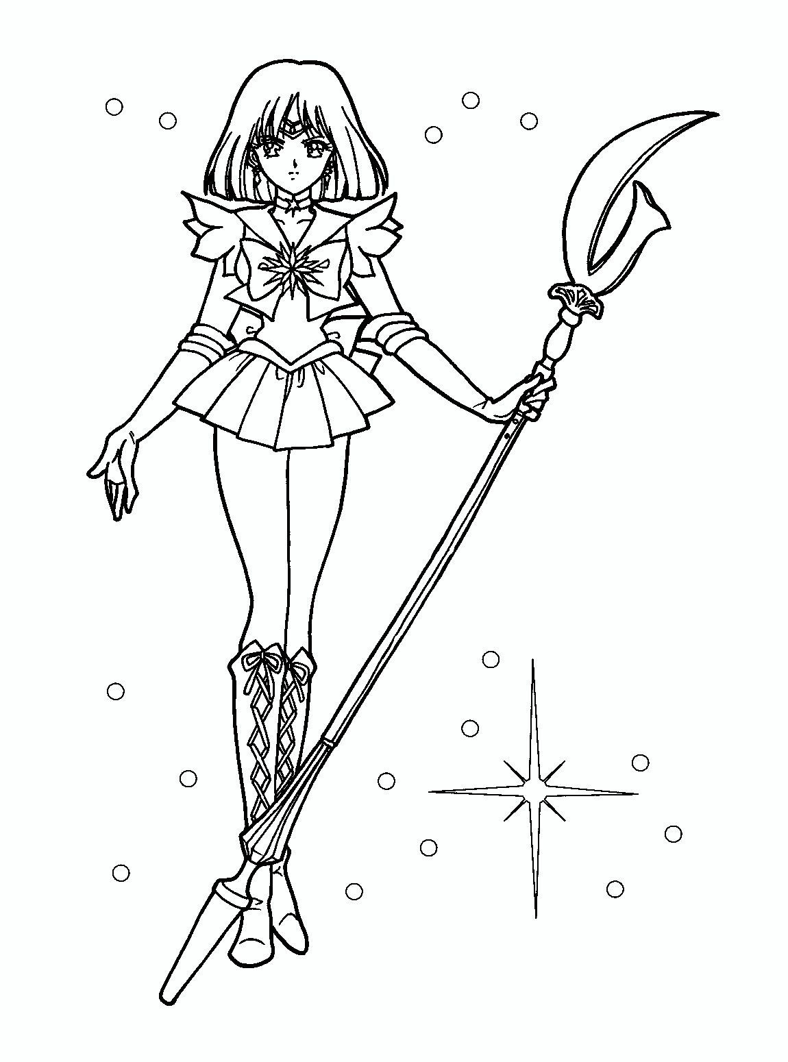Sailor Saturn Coloring Pages