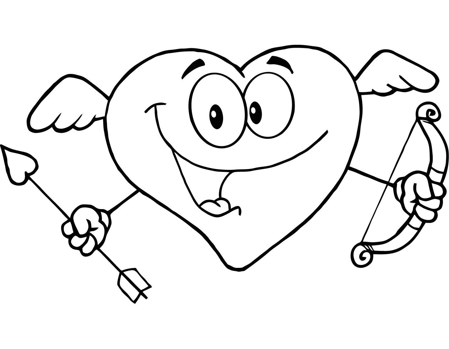 Dibujos Para Pintar De Cupido Dibujos De Cupido Para Colorear Neo Coloring
