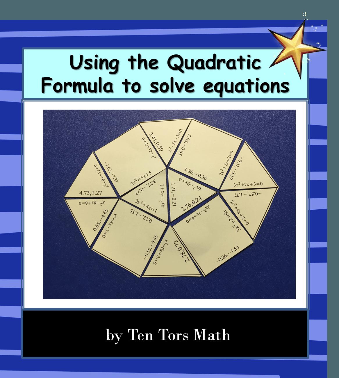The Quadratic Formula Coloring Activity