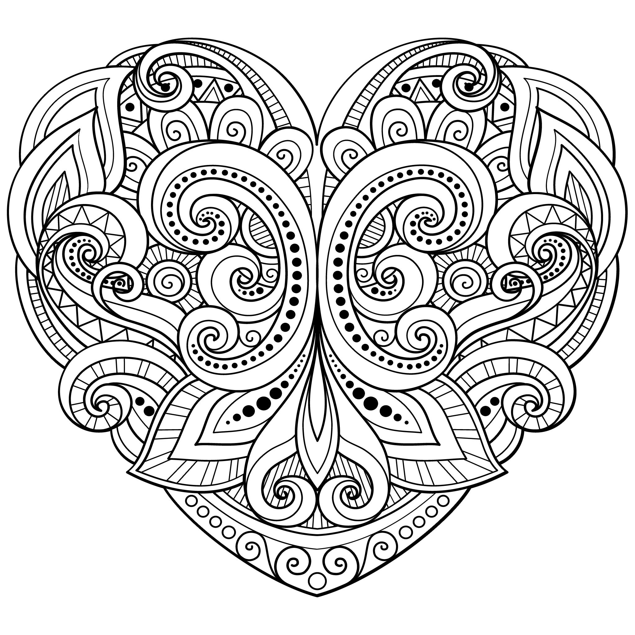25 Best Adults Coloring Hearts Images On Neo Coloring Pages