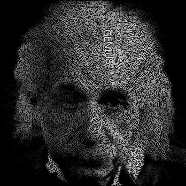 Einstein Word Portraits