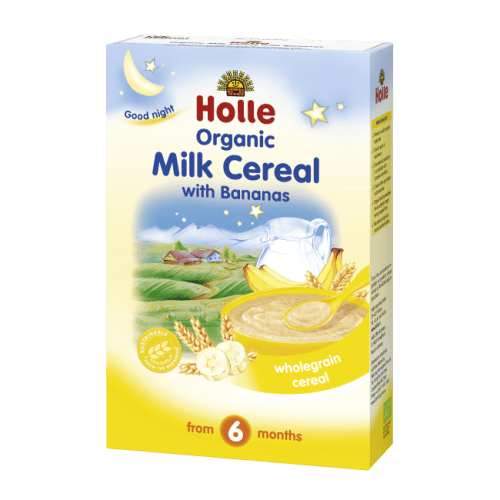 Holle Organic Milk cereal with bananas from 6 months