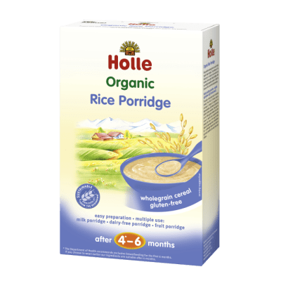 Holle Organic Rice Porridge wholegrain cereal from 6 months
