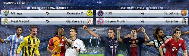 fixture cuartos de final champions league 2013