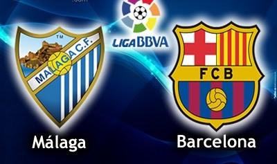 Málaga vs. Barcelona 2013 liga española