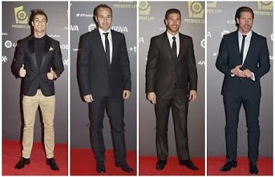 Ronaldo, Iniesta, Ramos y Simeone en la entrega de premios LFP Liga Española BBVA 2012-2013