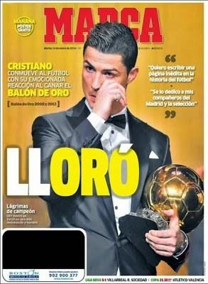 Portada MARCA Cristiano Ronaldo Balón de Oro 2013