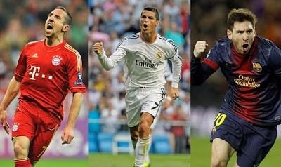 Cristiano Ronaldo, Leo Messi y Franck Ribéry, finalistas para el Balón de Oro 2013