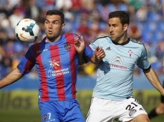Levante 0-Celta Vigo 1. Jornada 28 Liga Española