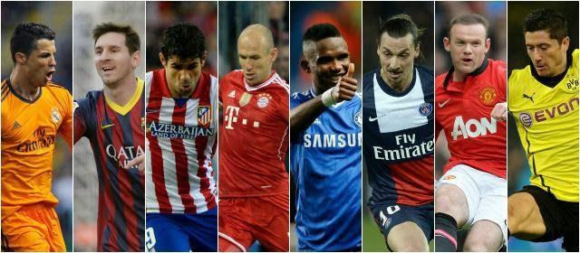 Los ocho clasificados para Cuartos de Final: Champions League 2013-2014