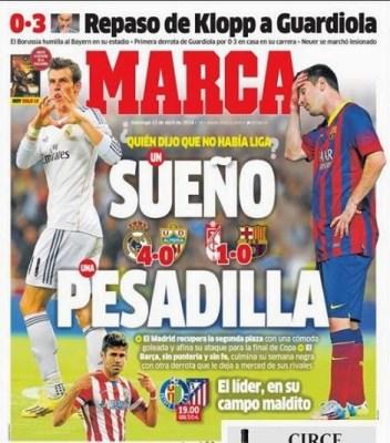 Portada diario Marca 13/04/2014
