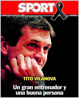 Portada Sport Muere Tito Vilanova