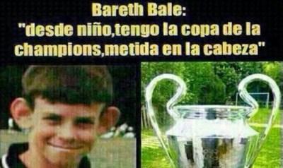 meme chiste gareth bale orejona champions league