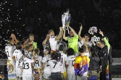 El Real Madrid festeja la Champions League 2014 en el Bernabeu