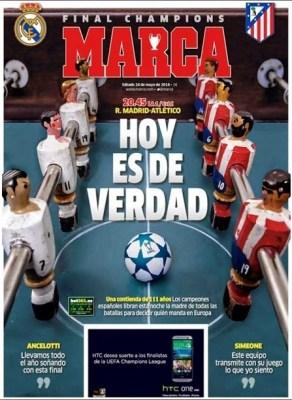 Portada marca final champions league 2014 Real Madrid Atletico Madrid