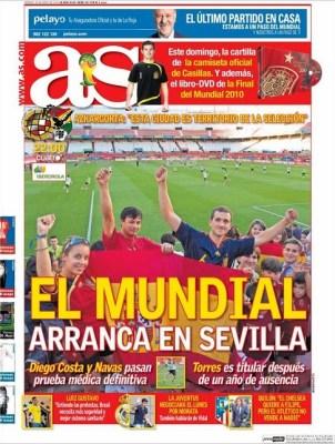 España vs. Bolivia: Calentando motores para el Mundial de brasil portada as