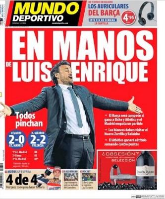 Portada Mundo Deportivo 5 mayo 2014