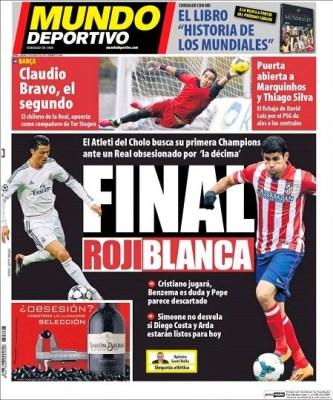 Portada Mundo final Champions League 2014