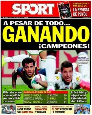 Portada Sport 12/05/2014