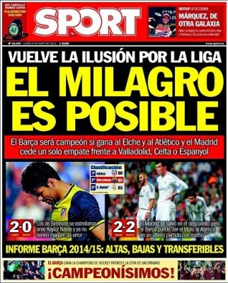 Portada Sport 5 mayo 2014