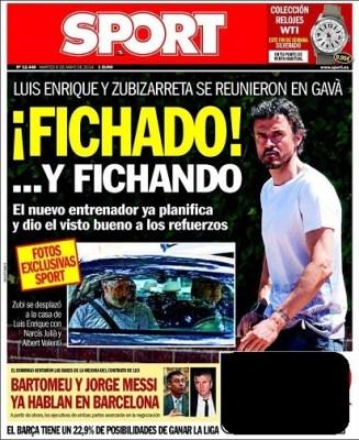 Luis Enrique Ficha para el Barça nuevo técnico