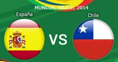 Alineación  España-Chile. Grupo B Mundial Brasil 2014