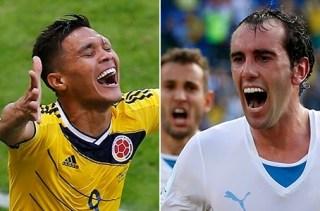 Alineación y la previa Colombia-Uruguay. Octavos de final