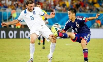 Japón 0-Grecia 0. Mundial Brasil-Grupo C