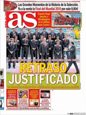 Portada AS: El Rey Juan Carlos abdica al trono de España