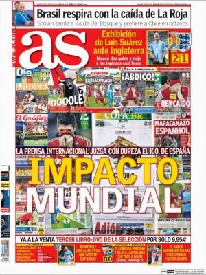 Portada Marca eliminacion españa mundial brasil