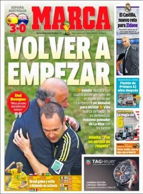 Portada Marca: España se despide de Brasil con un triunfo ante Australia
